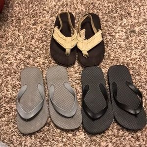 Other - 3 pair of Boys flips flops size 11/12